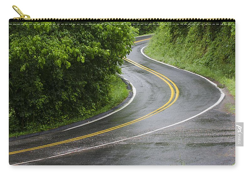 Road Carry-all Pouch featuring the photograph After The Rain by Carolyn Marshall