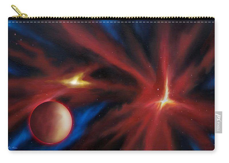 James C. Hill Carry-all Pouch featuring the painting Agamnenon Nebula by James Christopher Hill