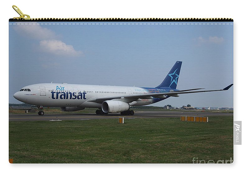 737 Carry-all Pouch featuring the photograph Air Transat Airbus A330 by Paul Fearn