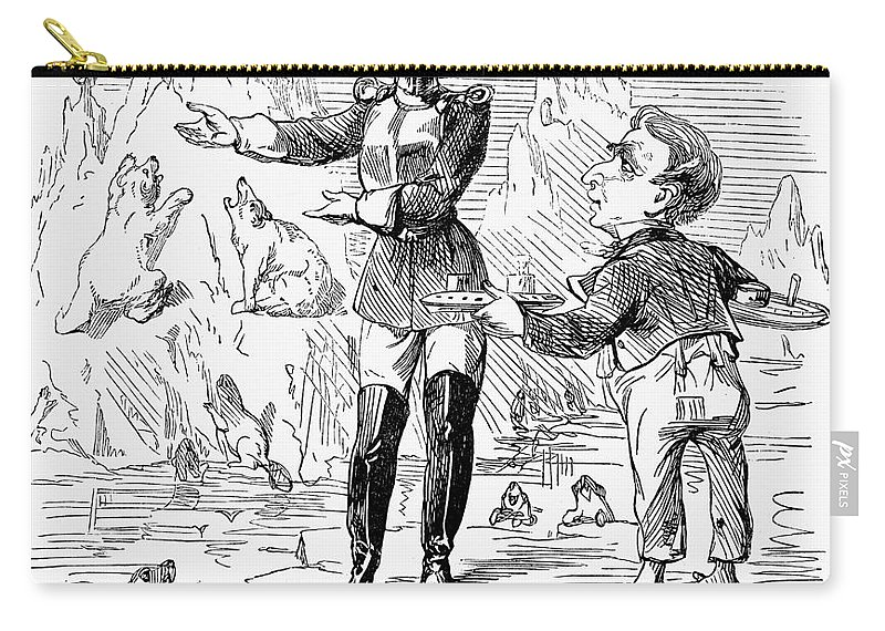 1867 Carry-all Pouch featuring the drawing Alaska Purchase Cartoon by Granger