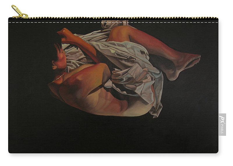 Semi_nude Carry-all Pouch featuring the painting 2 Am by Thu Nguyen