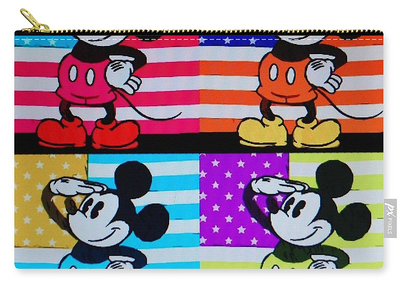 Mickey Mouse Carry-all Pouch featuring the photograph American Mickey by Rob Hans