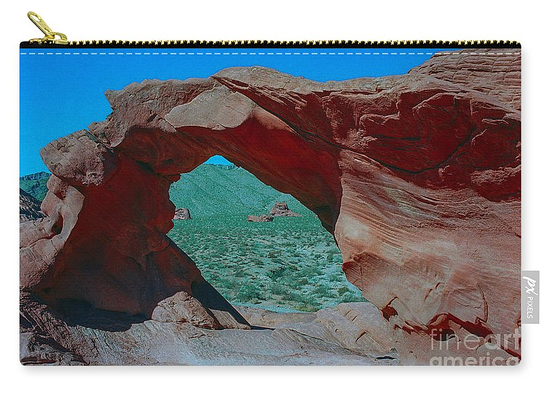 Arch Rock Carry-all Pouch featuring the photograph Arch Rock - Valley Of Fire State Park by Yefim Bam