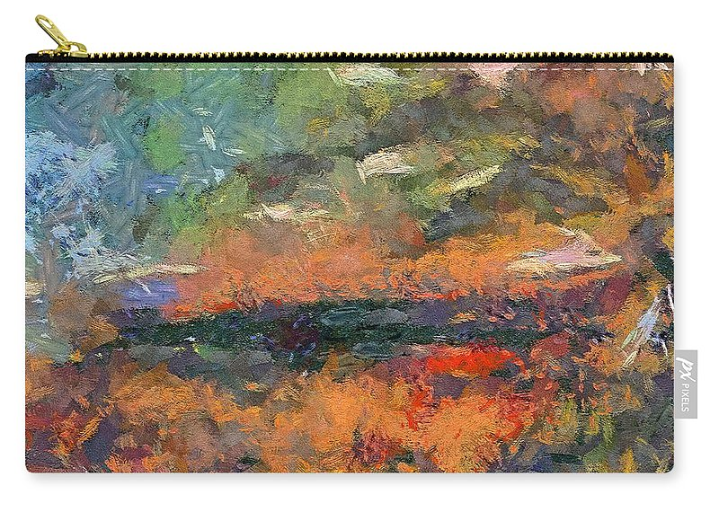 Dawn Carry-all Pouch featuring the painting At Dawn by Dragica Micki Fortuna