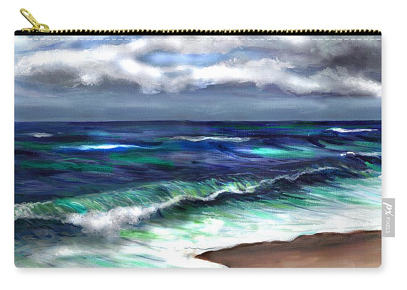 Atlantic Carry-all Pouch featuring the painting Atlantic by Clara Sue Beym