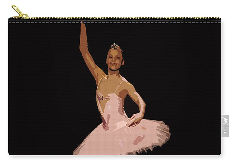 Finland Carry-all Pouch featuring the photograph Ballerina Warhol Style by Jouko Lehto