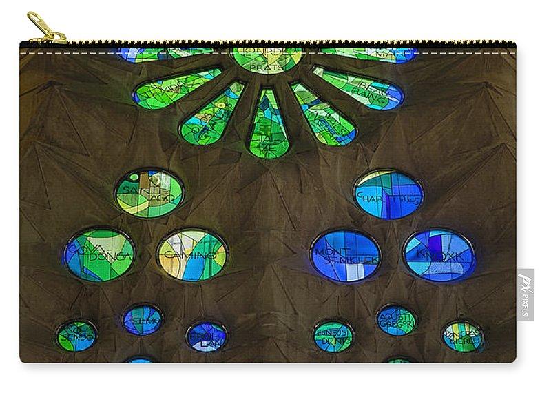 Antoni Gaudi Carry-all Pouch featuring the photograph Basilica Sagrada Familia by John Greim