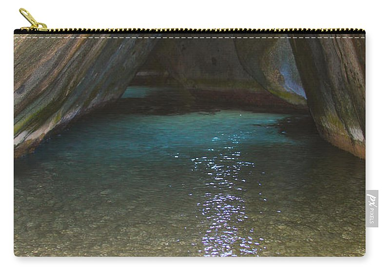 Baths Carry-all Pouch featuring the photograph Bath Rocks by Carey Chen