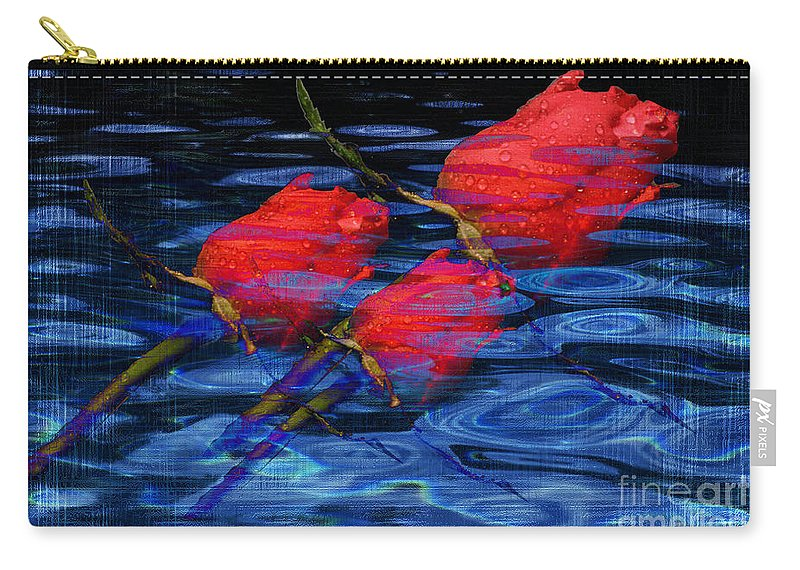 Rose Image Carry-all Pouch featuring the digital art Be Mine by Yael VanGruber