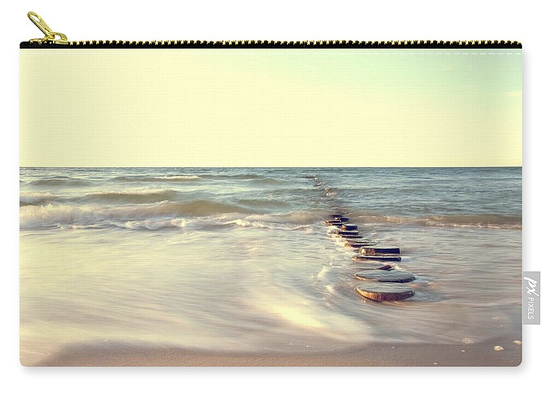 Ostsee Carry-all Pouch featuring the pyrography Beach by Steffen Gierok