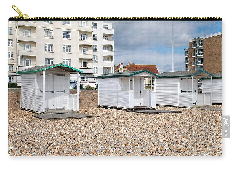 Beach Carry-all Pouch featuring the photograph Bexhill Beach Huts by David Fowler