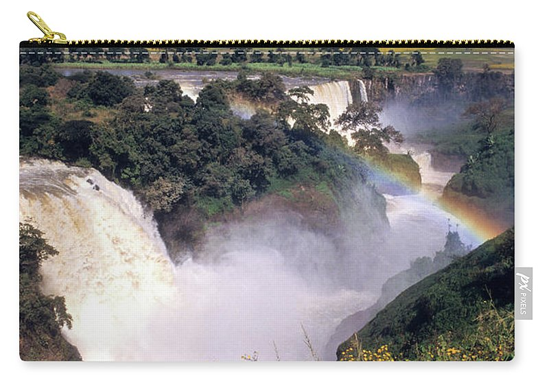 Africa Carry-all Pouch featuring the photograph Blue Nile Falls by Michele Burgess
