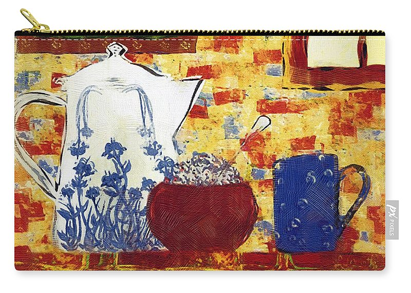 Breakfast Carry-all Pouch featuring the painting Breakfast With Pearl Jam by RC DeWinter