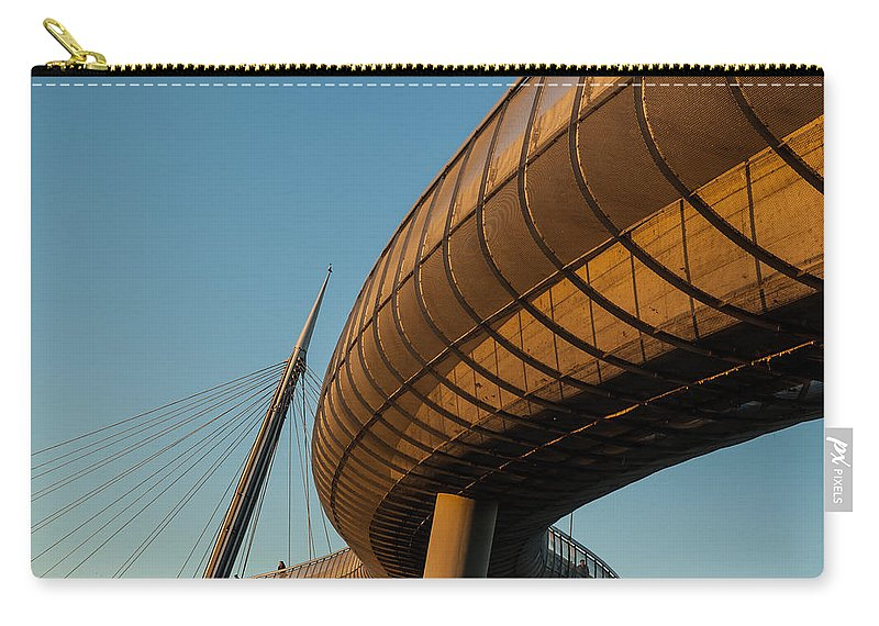 Bridge Carry-all Pouch featuring the photograph Bridges In The Sky by Andrea Mazzocchetti
