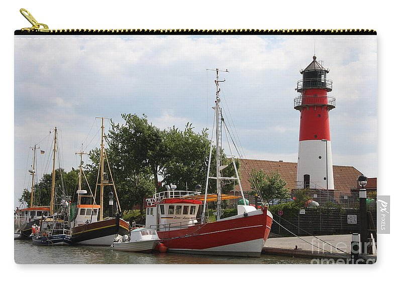 Buesum Carry-all Pouch featuring the photograph Buesum Lighthouse - North Sea - Germany by Christiane Schulze Art And Photography