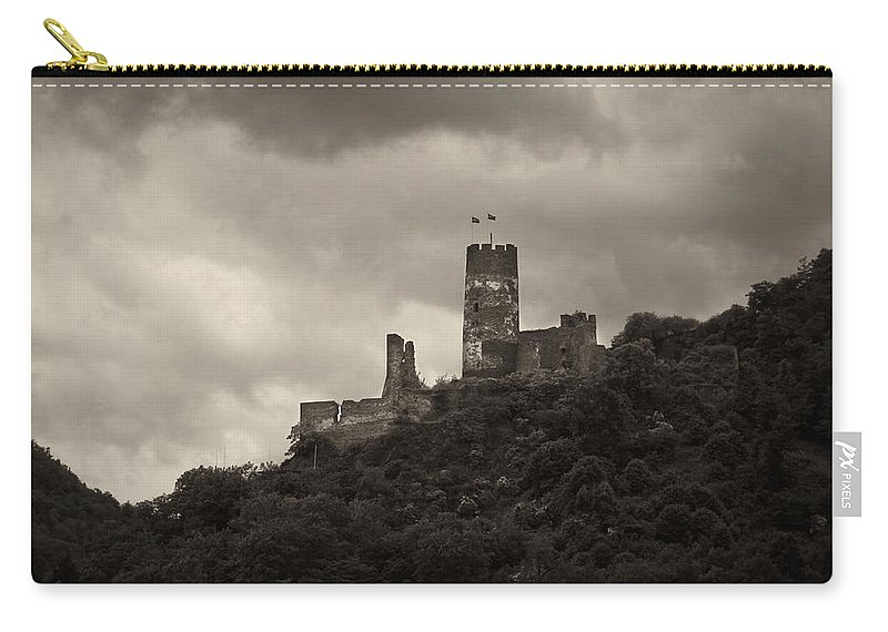Alankomaat Carry-all Pouch featuring the photograph Burgruine Furstenberg Rheindiebach by Jouko Lehto