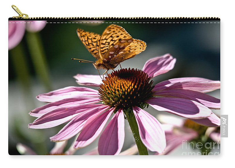 Butterfly Carry-all Pouch featuring the photograph Butterfly Beauty by Cheryl Baxter