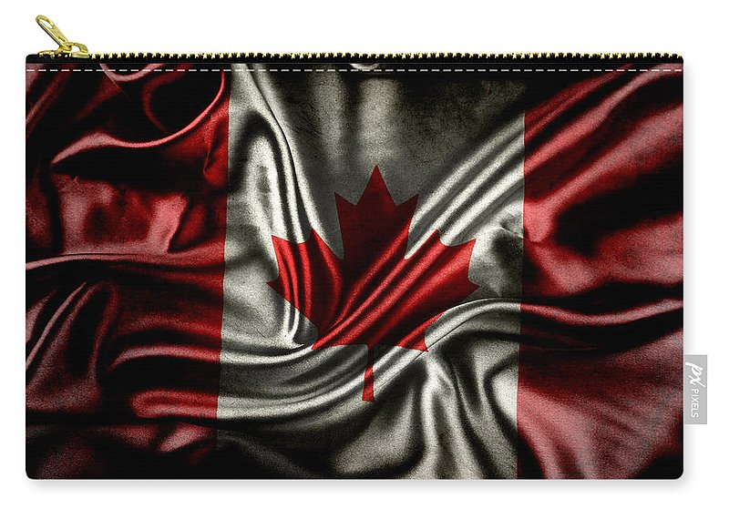 Flag Carry-all Pouch featuring the photograph Canadian Flag by Les Cunliffe