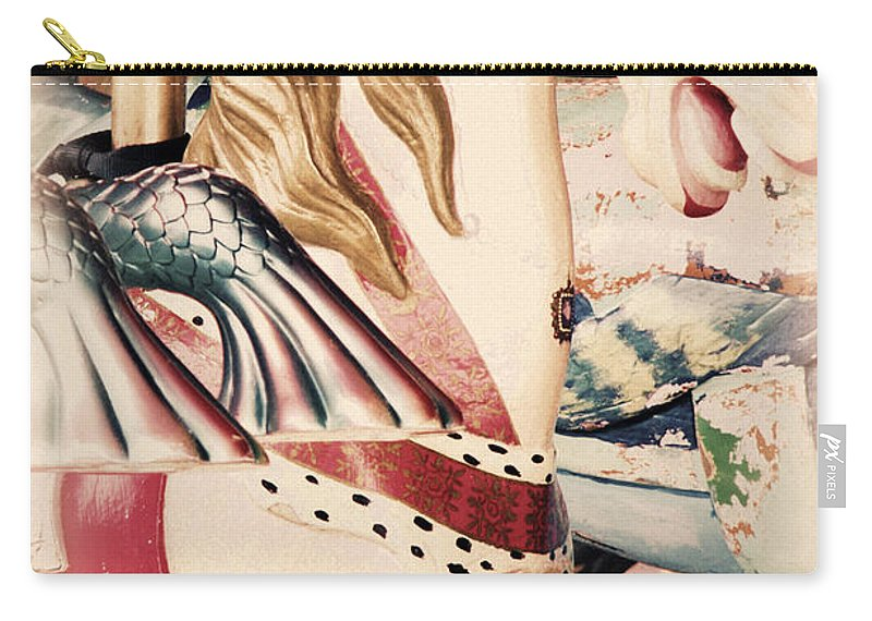 Merry Go Round Carry-all Pouch featuring the digital art Carousel Horse by Valerie Reeves