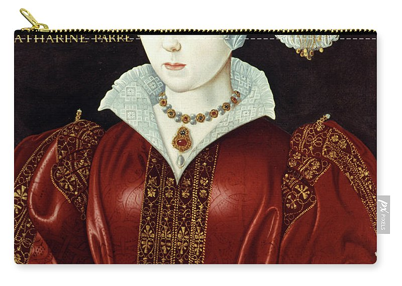 1545 Carry-all Pouch featuring the painting Catherine Parr (1512-1548) by Granger