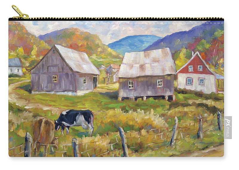 Art Carry-all Pouch featuring the painting Charlevoix North by Richard T Pranke