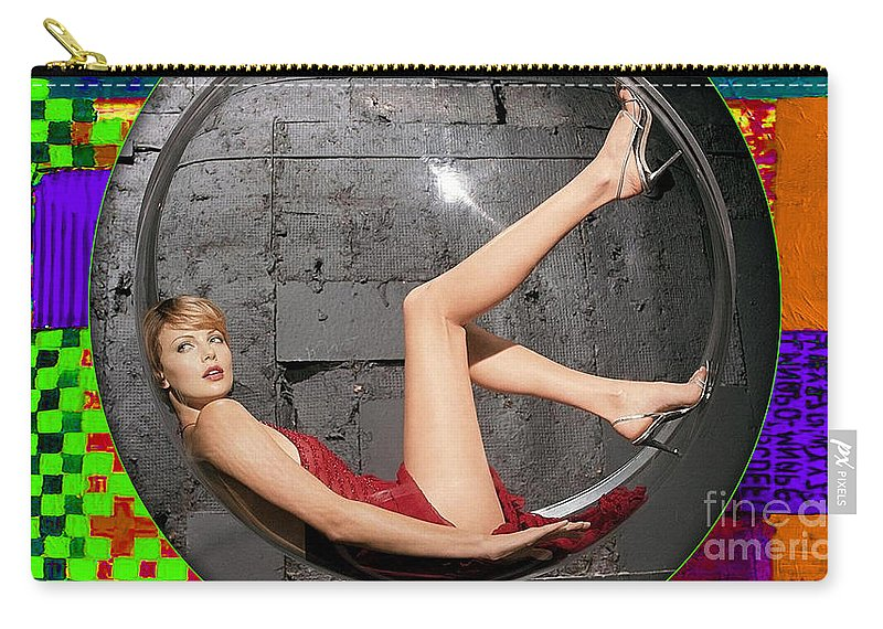 Charlize Theron Carry-all Pouch featuring the mixed media Charlize Theron by Marvin Blaine