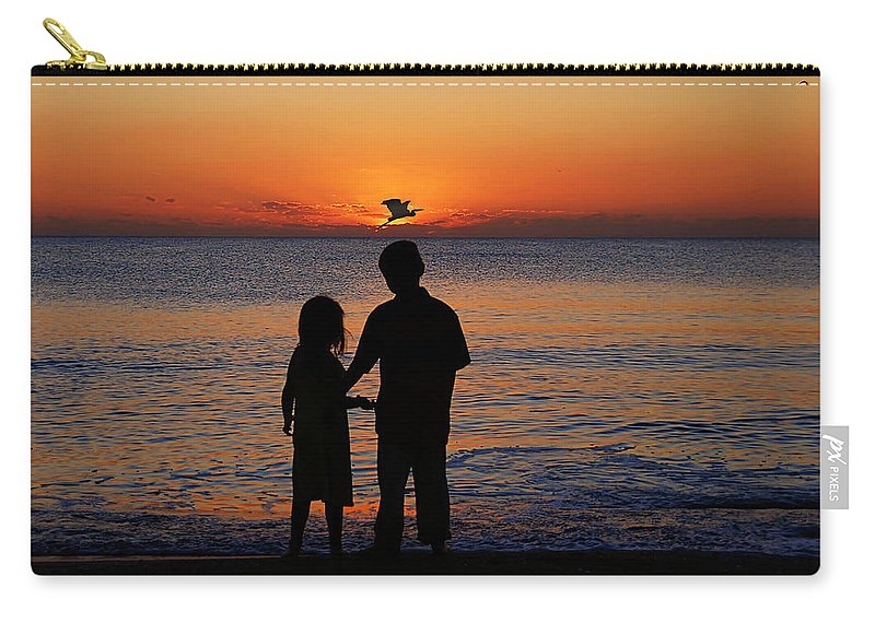 Sunset Carry-all Pouch featuring the photograph Cherish The Moment by John Absher