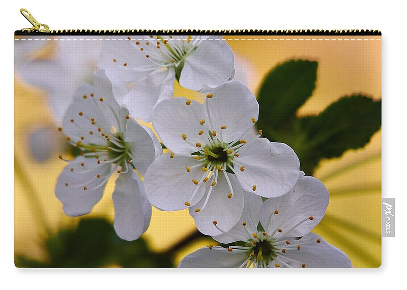 Lehto Carry-all Pouch featuring the photograph Cherry Flowers by Jouko Lehto