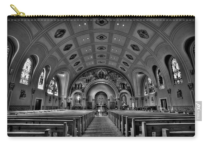Mn Church Carry-all Pouch featuring the photograph Church Of Saint Bernard by Amanda Stadther