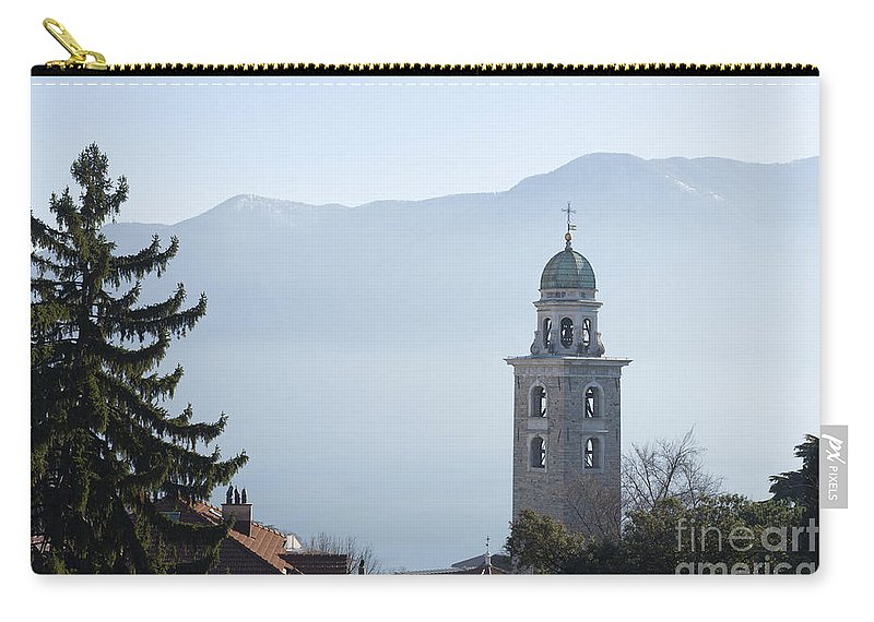 Church Tower Carry-all Pouch featuring the photograph Church Tower by Mats Silvan