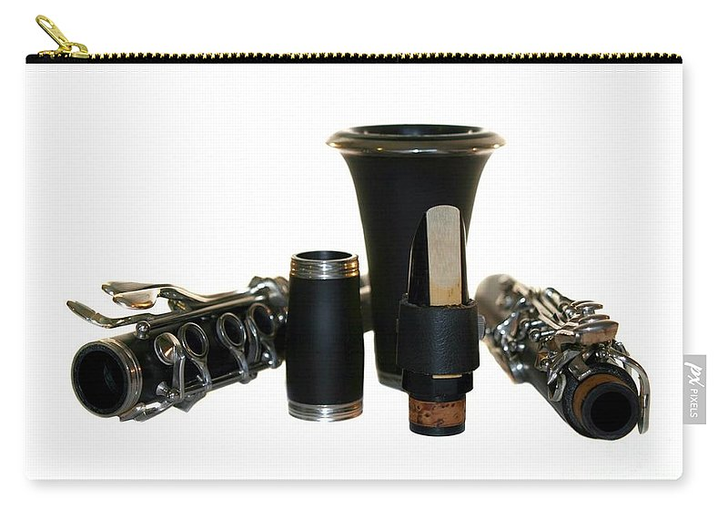 Music Carry-all Pouch featuring the photograph Clarinet by Henrik Lehnerer
