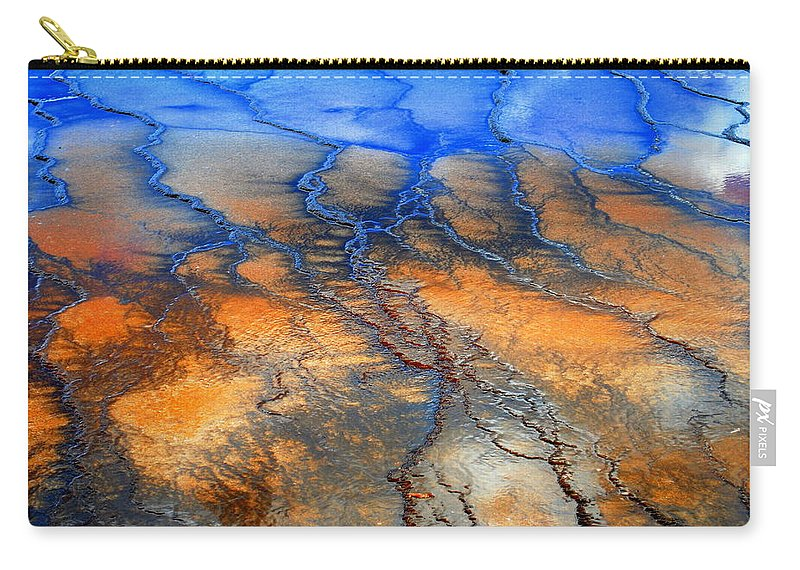 Abstract Carry-all Pouch featuring the photograph Colorful Runoff by Kathy Sampson