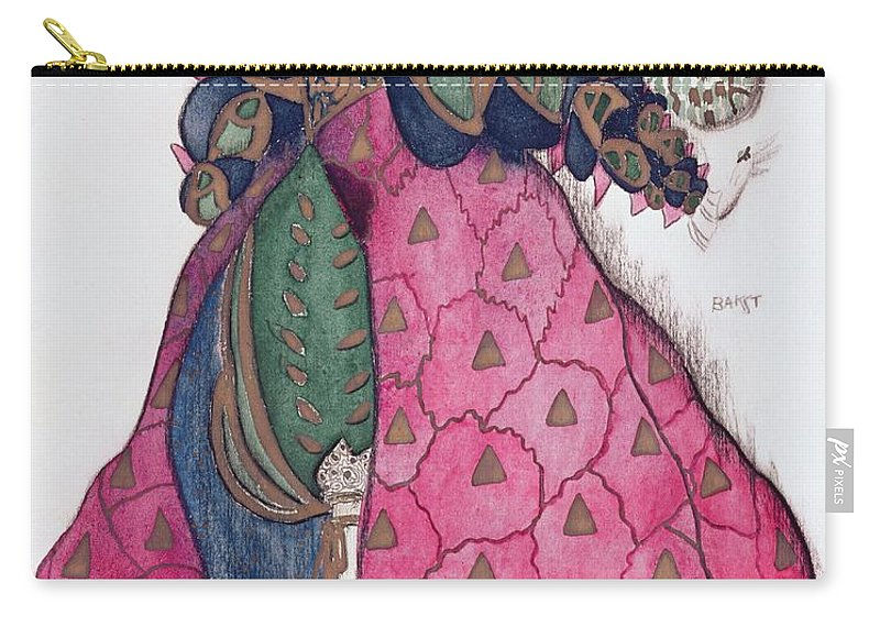 Dress Carry-all Pouch featuring the drawing Costume Design For The Ballet La by Leon Bakst