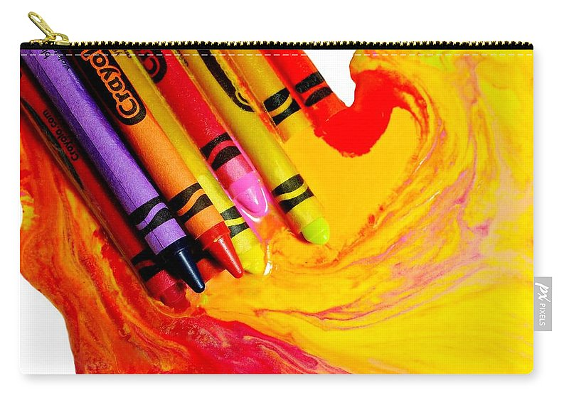 Crayons Carry-all Pouch featuring the photograph Crayon Soup by Diana Angstadt