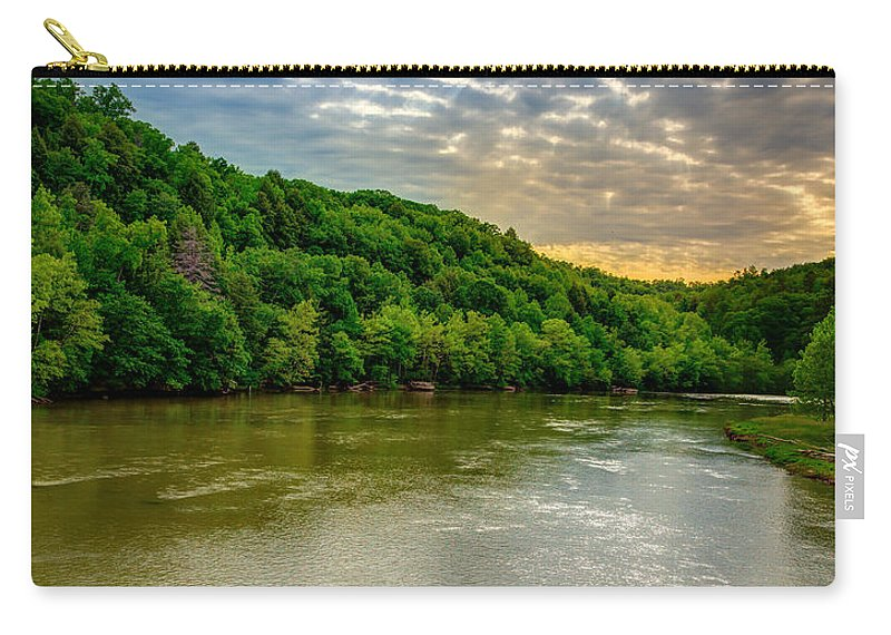 River Carry-all Pouch featuring the photograph Cumberland River by Alexey Stiop