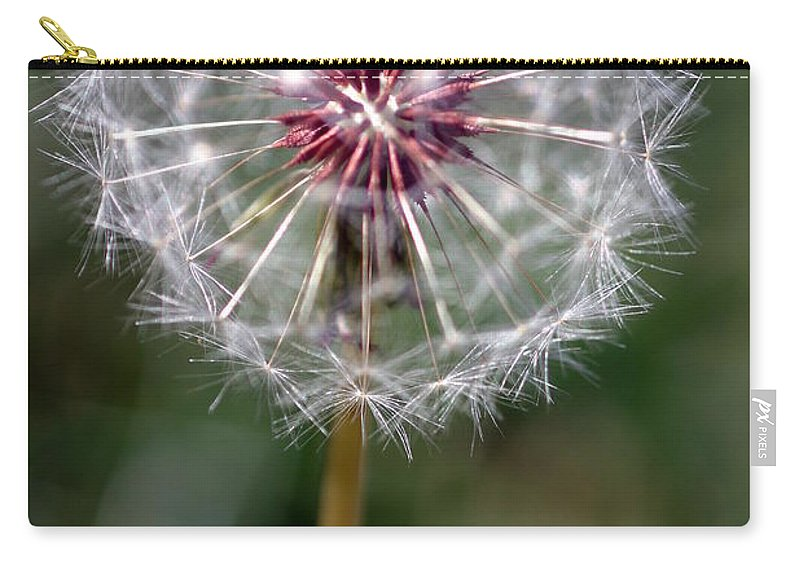 Abstract Carry-all Pouch featuring the photograph Dandelion Seed Head by Henrik Lehnerer