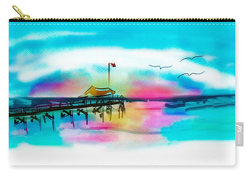 Beach Carry-all Pouch featuring the digital art Daybreak At Pawleys Island by Frank Bright