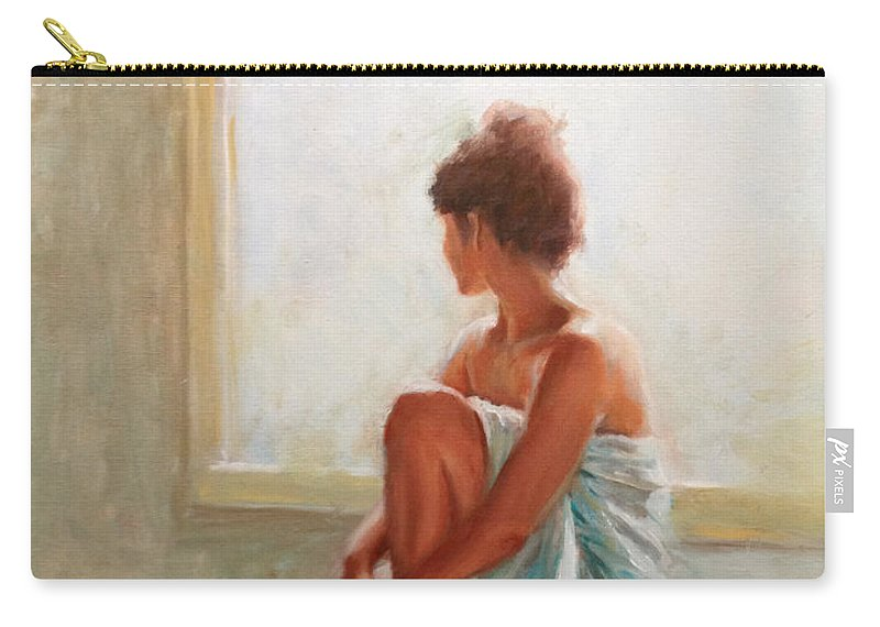Figurative Carry-all Pouch featuring the painting Daydream by Sarah Parks
