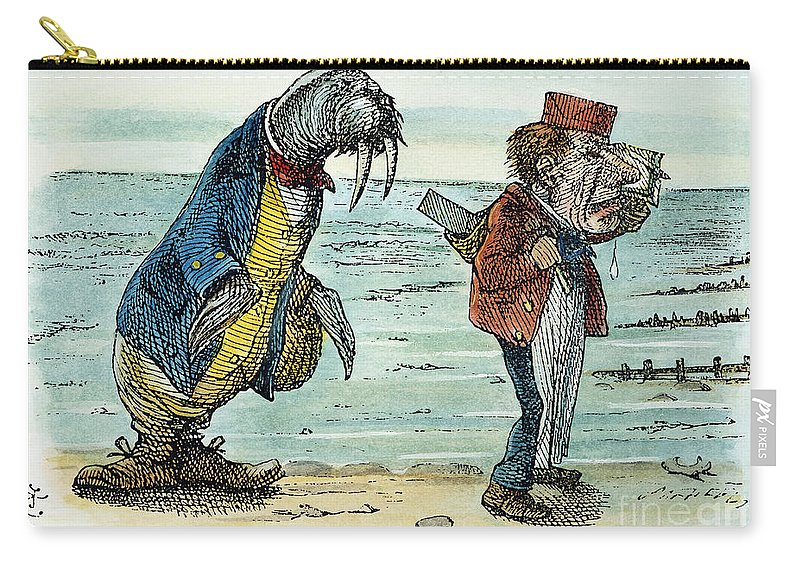 1872 Carry-all Pouch featuring the photograph Dodgson: Looking Glass by Granger