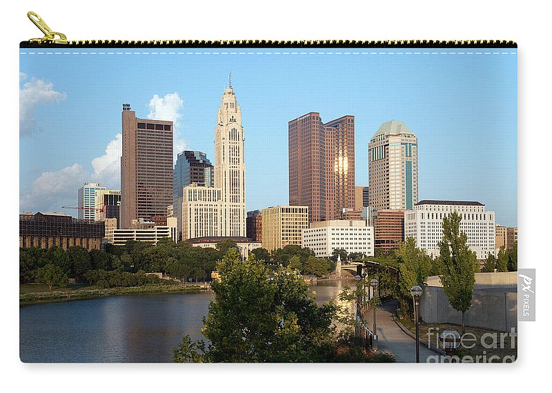 Columbus Carry-all Pouch featuring the photograph Downtown Skyline Of Columbus by Bill Cobb