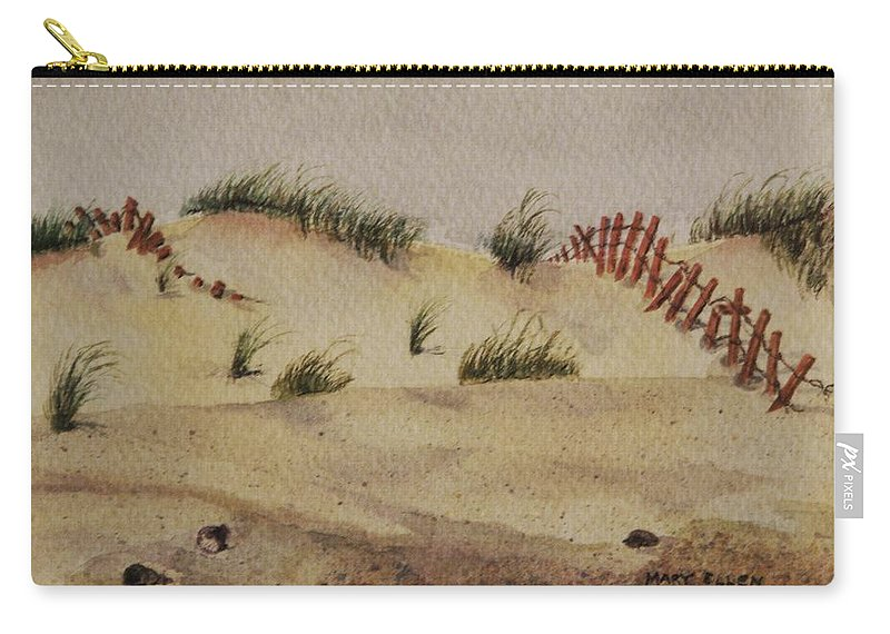 Sand Carry-all Pouch featuring the painting Dunes by Mary Ellen Mueller Legault