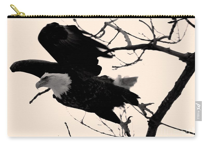 Bald Eagle Carry-all Pouch featuring the photograph Eagles Along The Mississippi by Tommy Anderson