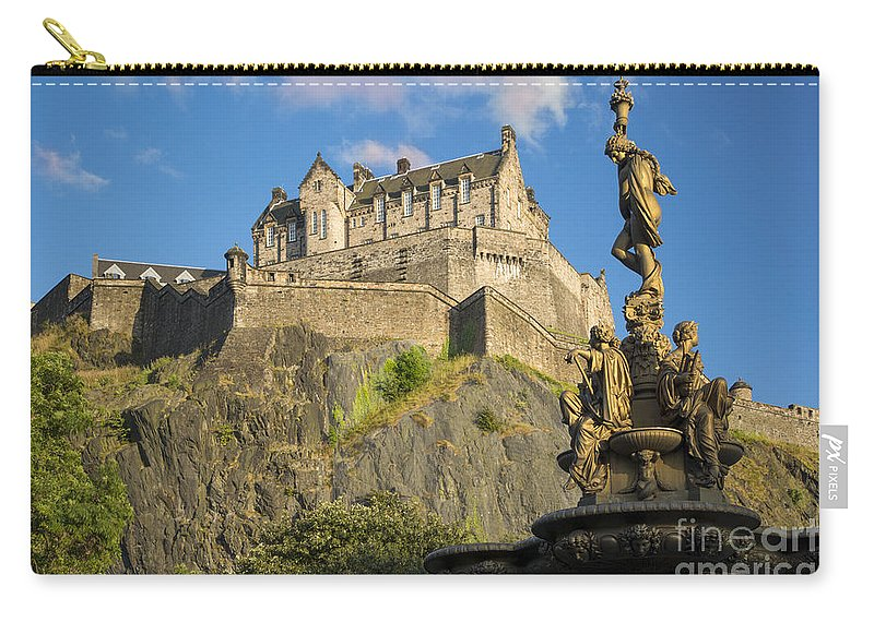 Artwork Carry-all Pouch featuring the photograph Edinburgh Castle by Brian Jannsen