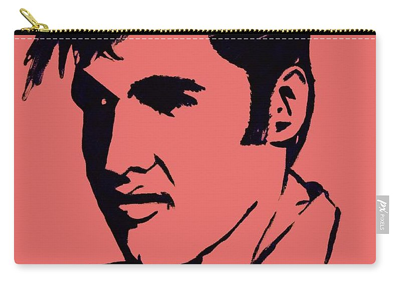 Elvis The King Carry-all Pouch featuring the painting Elvis The King by Saundra Myles