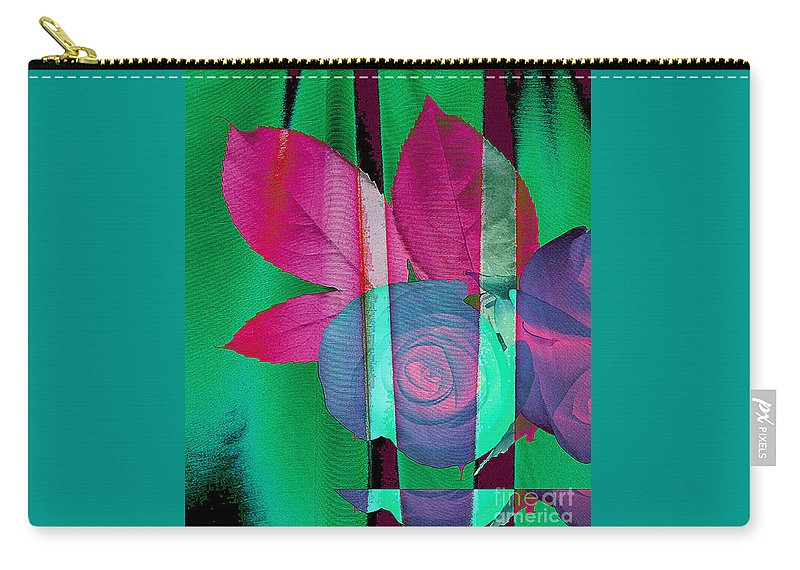 Digital Art Image Carry-all Pouch featuring the digital art Exotic by Yael VanGruber