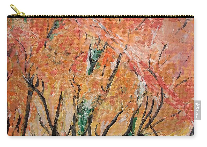 Fall Carry-all Pouch featuring the photograph Fall Colors At Cape May by Eric Schiabor