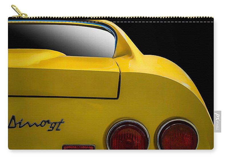 Ferrari Carry-all Pouch featuring the digital art Ferrari Dino by Douglas Pittman