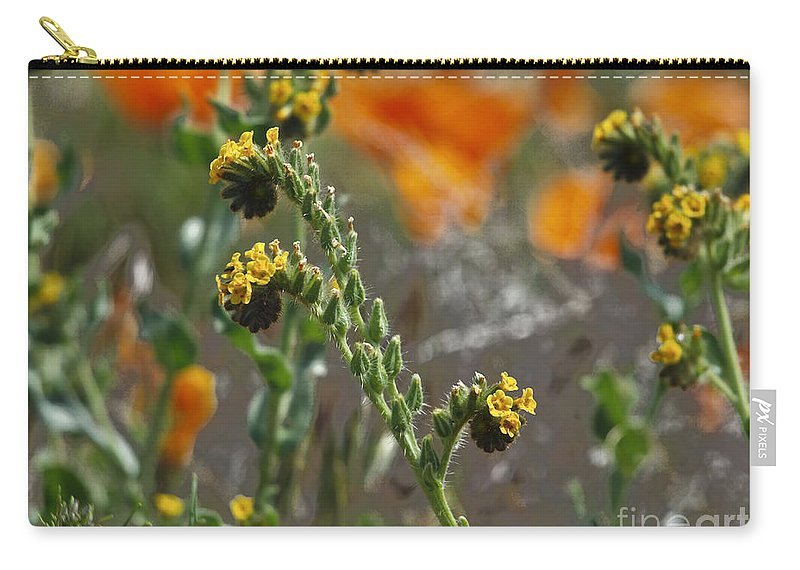 Fiddleneck Carry-all Pouch featuring the photograph Fiddleneck Flowers by Howard Stapleton