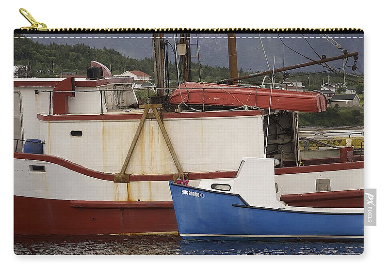 Newfoundland Carry-all Pouch featuring the photograph 2 Fishing Boats At The Dock by David Stone