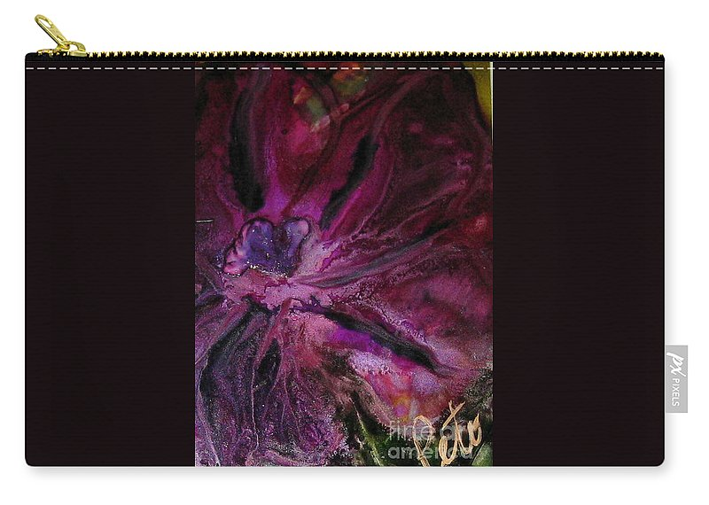 Flower Carry-all Pouch featuring the painting Fleur De Olivia by Kim Peto